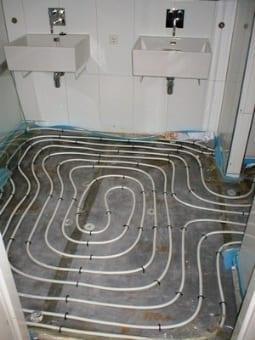 Slakkenhuis patroon vloerverwarming