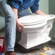toilet plaatsen