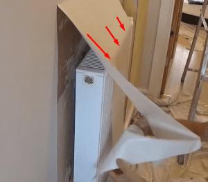 achter radiator